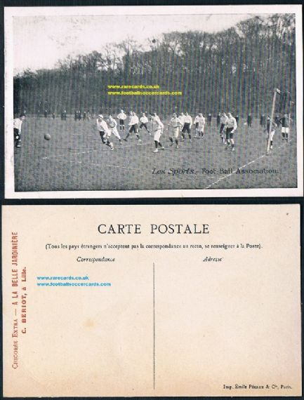 1910s French football match postcard